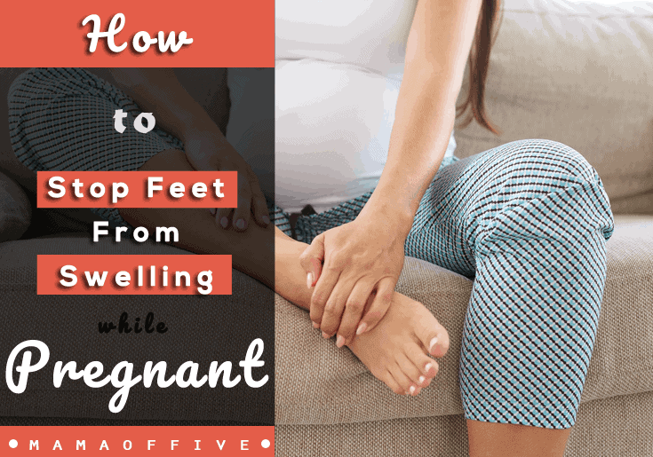 stop feet from swelling while pregnant