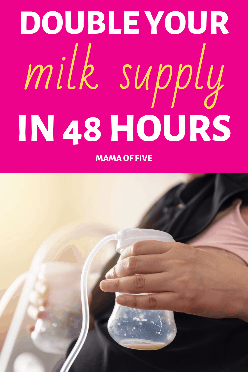 Ways you can increase breastmilk supply in 48hrs