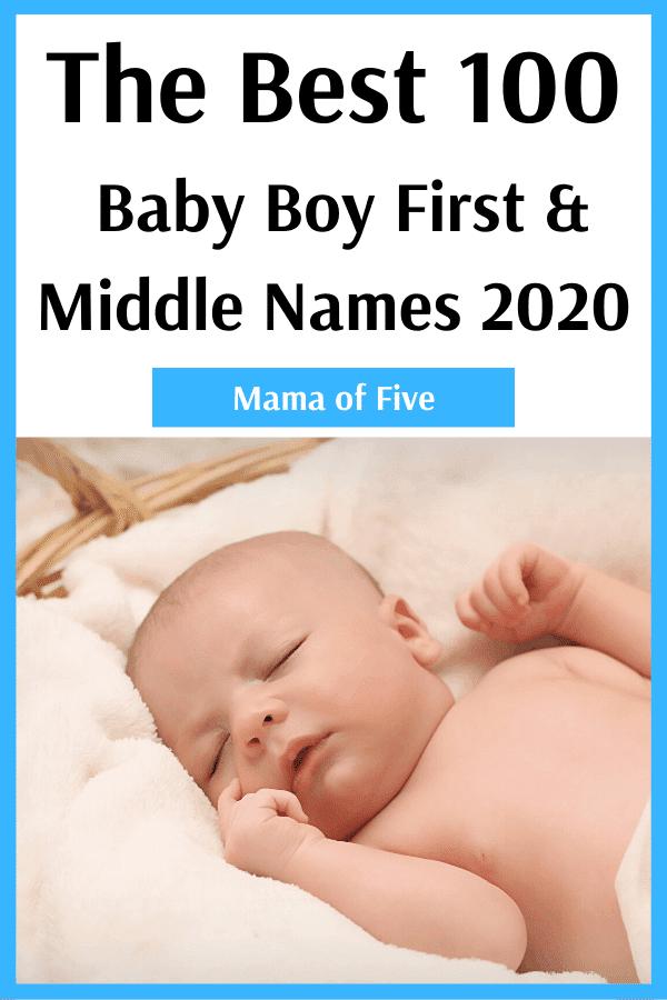 top 100 baby names 2020