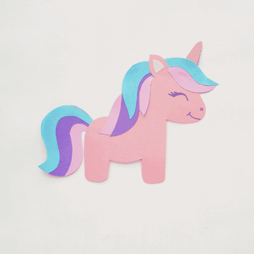 Cute Papercraft Unicorn for Imaginative Kids