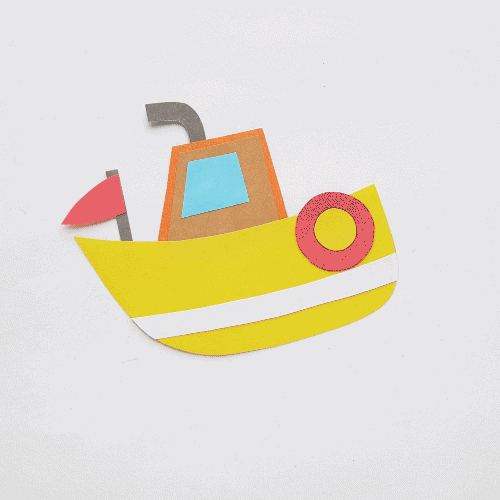 Adventurous Papercraft Boat Template for Kids