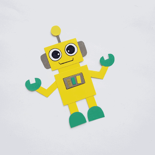 Fun Robot Papercraft for Energetic Kids